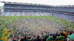 Travel for fun, what to do in Dublin, visit Ireland: Croke Park after Kerry have won the All-Ireland
