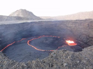Travelling for Fun, Danakil Depression, visit Ethiopia: Irte Ale volcano showing earths potential fury