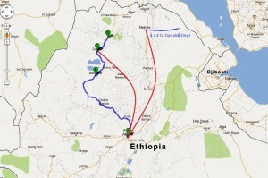 Travel for fun, Addis Ababa, Ethiopia: My route around Ethiopia
