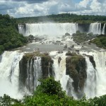 Travelling for fun: Waterfalls Background picture of Iguazu Falls, Brazil, Argentina