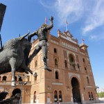 Travelling for fun, things to do in Madrid, visit Spain: Outside Plaza de Toros
