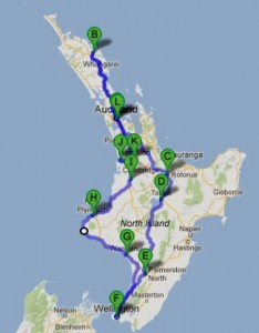 Travelling for Fun, visit New Zealand North Island: My route on New Zealand's North Island