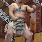 Travelling for fun, visit New Zealand North Island, Rotorua: A Maori warrior does his haka dance
