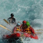 Travelling for fun, visit New Zealand South Island, Rangitata: A bit wet when white water rafting