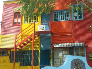 Travelling for fun, what to do in Buenos Aires, visit Argentina: Colourful houses in La Boca