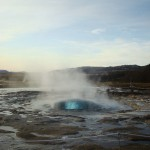 Travel for fun, Geyser, visit Iceland: The geyser erupts in Iceland. Part 1