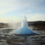 Travel for fun, Geyser, visit Iceland: The geyser erupts in Iceland. Part 2