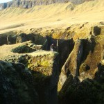 Travelling for fun, Skaftafell, visit Iceland: A long way down. Skaftafell is a great spot to backpack