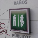 Travelling for Fun, things to do in Mexico City, Mexico: Never a more appropriate sign! An amusing way to signal where the toilets are.