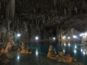 Travelling for fun, visit Mexico, Yucatan, Cenote: A spectacular cenote with thousands of stalactites on the ceiling. This cenote was in the middle of nowhere west of Vallidolid