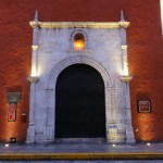 Travelling for fun, visit Mexico, Merida : A doorway in Merida brightens up the street.