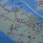 Bus routes, What to do in Gozo, Malta, Travelling for fun: A map of the bus routes throughout Malta Island