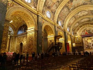 St. John's Cathedral, What to do in Valletta, Malta: The sumptuous interior of St. John's Cathedral. Every nook and cranny is decorated. Even the floor is a decorated tomb. It also contains some Caravaggio paintings.