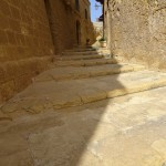 The Citadel, Victoria, What to do in Gozo, Malta: A narrow staircase leading up to some wonderful views in the Citadel