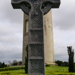Glasnevin Cemetery, Free attractions in Dublin, What to do in Dublin, Ireland, Travelling for Fun: One of the largest Celtic crosses in Ireland in front of the O'Connell monument in Glasnevin cemetery where 1.5million people are buried