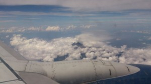 Volcano, Mexico, Travelling for Fun: A smoking volcano from my flight to Mexico City in Mexico