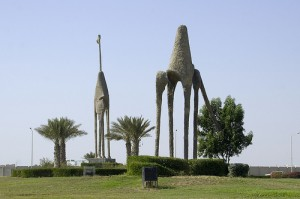 What to do in Jeddah, Camel Roundabout, Travelling for Fun: One of the many strange roundabout statues in Jeddah