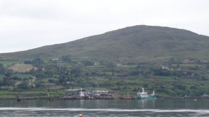 Bere Island, West Cork, Ireland: Photo 1 of the wreck and port. Taken on the way to the island.