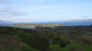 Bere Island, West Cork, Ireland: How Rerrin Village and the east side of Bere Island looks from the centre.
