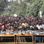 Kwita Izina, Volcanoes National Park, Musanze, Rwanda: The local crowd packed in to watch the entertainment