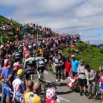 See the Tour de France, Stage 16: The crowds part as the cyclists approach the summit of Port de Bales