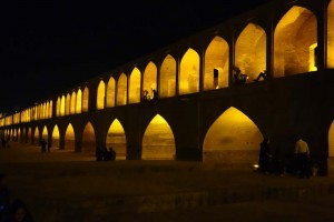 Things to do in Esfahan, Iran - Si-o-Seh-Pol Bridge at night