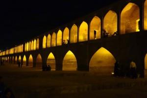 Things to do in Esfahan, Iran - Si-o-Seh-Pol Bridge at night